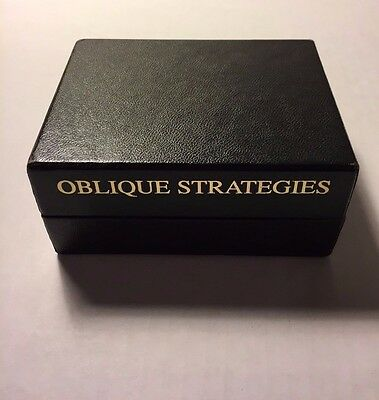Brand New Brian Eno Oblique Strategies Deck Why Buy Here? Please read !!!!!