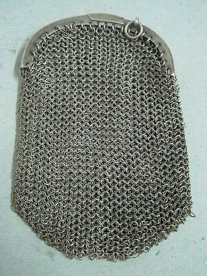 Antique Silver Chain Mail Mesh Lady Coin Purse (4)