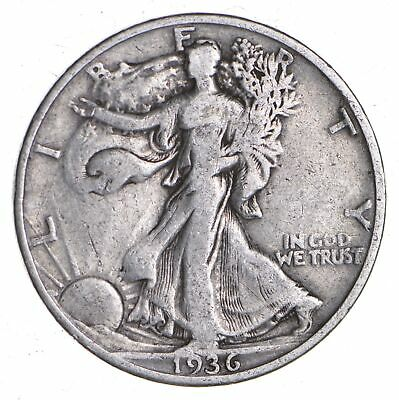 1936-D Walking Liberty 90% Silver US Half Dollar *254