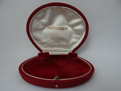 Movado Watch Box Ladies Vintage 1940's
