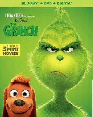 Illumination Presents: Dr Seuss' The Grinch (2019, Blu-Ray)