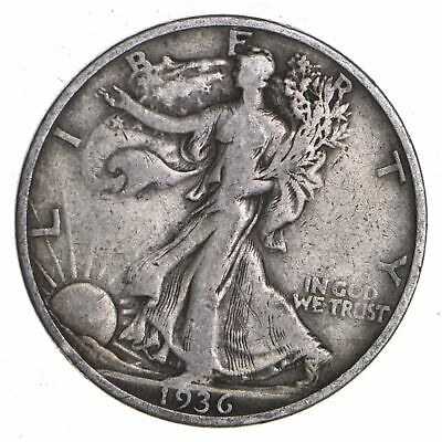 1936-S Walking Liberty 90% Silver US Half Dollar *217