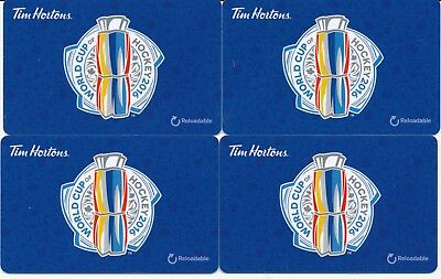 2016 Tim Hortons Gift Cards Timcards x4 World Cup Hockey FD 53657 No Balance