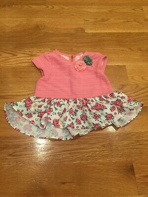 6042e79df73 PIPPA   JULIE Little Baby Girls Rosette Flowers Dress 18 Months Pink ...