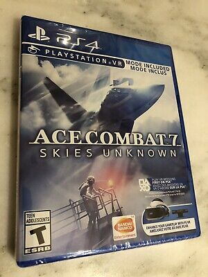 Brand New In Box Nib Sealed Ace Combat 7 Skies Unknown Playstation 4 Ps4 Game