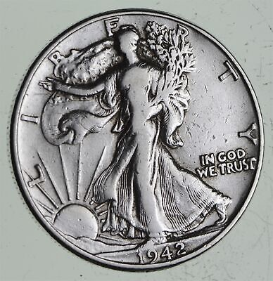 Strong Feather Details - 1942 Walking Liberty Half Dollars - Huge Value *562