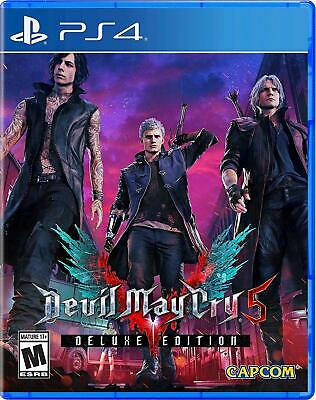 NEW Devil May Cry 5 Deluxe Edition (for PS4) US Version FACTORY SEALED!