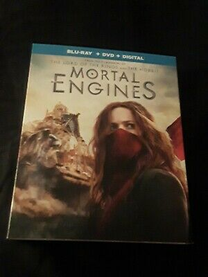Mortal Engines (Bluray/DVD/DIGITAL) BRAND NEW FACTORY SEALED W/SLIPCOVER