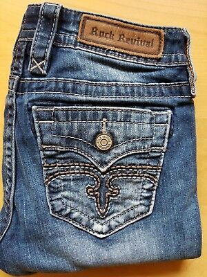 3cf656a8ce5 ROCK REVIVAL SIZE 29 Alivia Straight jeans New NWT in bag ...