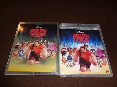 Wreck It Ralph *Rare Region A Disney 3D Blu Ray *Spanish English *Sealed w/Cover