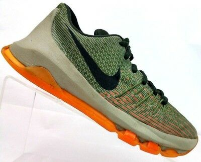5dd42e53e6c1 Nike KD 8 Basketball Shoes Kevin Durant Green Orange 768867-033 Size Youth  4Y