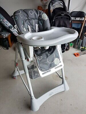 Infasecure Melody Deluxe Highchair - Grey Bubbles