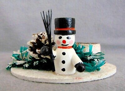 Vintage German Erzgebirge Christmas Display Ornament Candle Holder