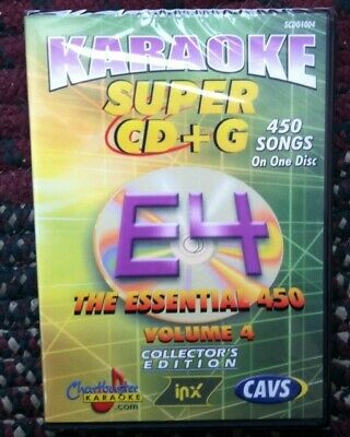 Chartbuster Essentials Karaoke Scdg E4, 450 Songs, Cavs Super Cd+G *sale*
