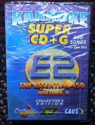 Chartbuster Essentials Karaoke Scdg E2, 450 Songs, Cavs Super Cd+G ($99.99)