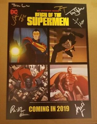 NYCC 2018 DC Reign of the Superman Movie Exclusive Poster signed by Cast RARE!!!