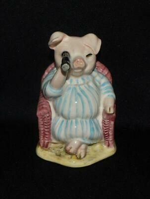 Vintage Royal Albert Little Pig Robinson Spying Beatrix Potter Figurine 1987 Box