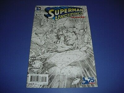Superman Unchained #6 1:300 Jim Lee Sketch variant VF/NM! New 52 2015 DC A57