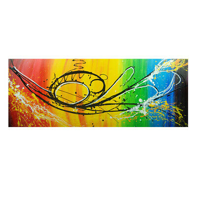 100% Hand Painted Abstract Art Canvas Oil Painting Home Decor Framed Color Line