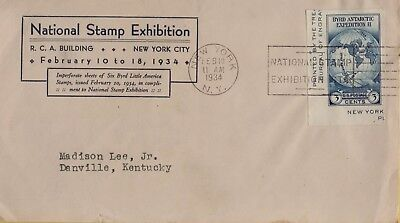 Usa New York 1934 Nse Byrd Antarctic Expedition Ii Vf Cover