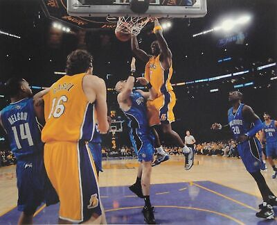 Lamar Odom 16x20 Photograph UNSIGNED Hanging Huge Dunk Los Angeles Lakers