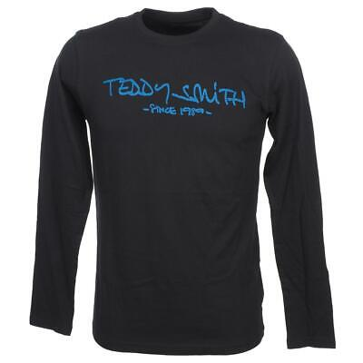 Tee shirt manches longues Teddy smith Ticlass 3 dknv/blue mltee Bleu 56137 - Neu