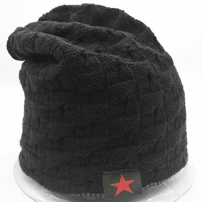a920255821802 New Unisex black Knit Baggy Beanie Winter Hat Ski Slouchy Chic Knitted Cap