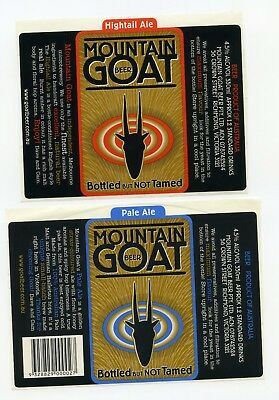 Pair of Old Mountain Goat Brewery Beer Labels (Australia)