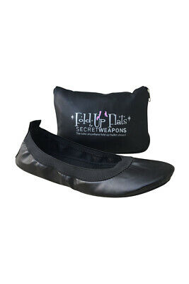 Fold Up Ballet Flats-Foldable Shoes-Travel Shoes with Purse & Tote Carry Bag