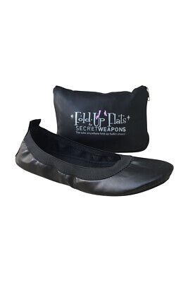 Fold Up Ballet Flats-Foldable Shoes-with Purse & Tote Carry Bag