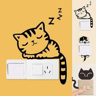Waterproof Bedroom Cartoon Animal  Switch Wall Decal Sticker Home Decorations