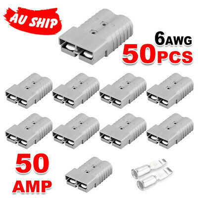 10 x Connectors for Anderson Style Plug DC Power 50 AMP 12-24V 6AWG OZ