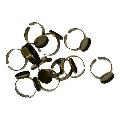 10 Adjustable Ring Settings fit 18x13mm Oval cabochon bead stone DIY Jewelry