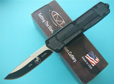 Coltello Microtech Scarab Navy Black Single Cut Limited Benchmade Balisong Edc