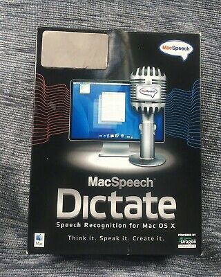 -=RARE=- MacSpeech Dictate (Mac) Apple Intel processor OSX 10.5.6