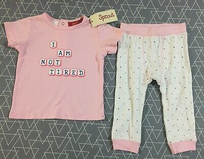 Sprout Baby Girls Pyjamas Size 0 New