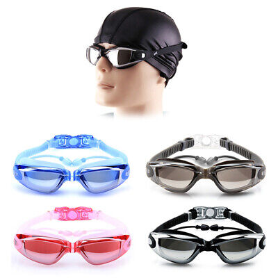 Adults Kids Swimming Goggles Anti-Fog UV Protection Swim Glasses with Case