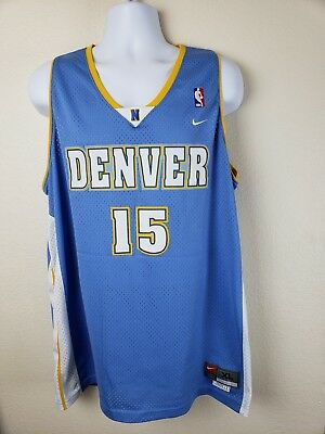 best sneakers 2a018 3efff Nike NBA Denver Nuggets Blue Carmelo Anthony  15 Basketball Jersey Size XL