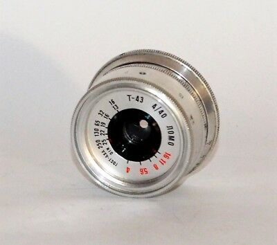 HAND MADE M39 mount USSR SILVER LOMO T-43 f4/40 LENS from SMENA-8m (4)