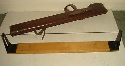 HOUGHTON-BUTCHER No.6230 WW1 Field Gear Measuring Device in Leather Case c1917