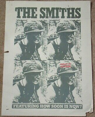 SMITHS-Meat Is Murder-RARE Original 1985 US 16x22 promotional/promo album poster