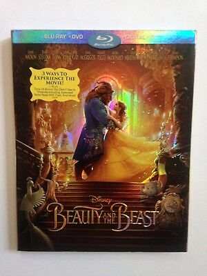 Disney Beauty And The Beast, Blu-Ray + Dvd+ Digital Hd, New With Slip Cover