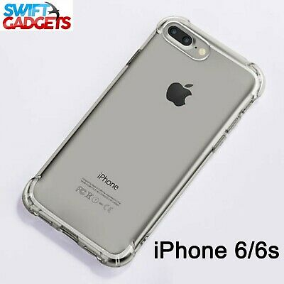 Case Shock Proof Clear Soft Silicone Gel Bumper Cover Slim For iPhone 6S & 6