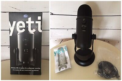 Blue Yeti USB Desktop Professional Microphone Blackout Edition Stand And Cable