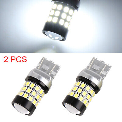 2pcs 7443 39 2835 Smd Led White Car Tail Brake Reverse Light