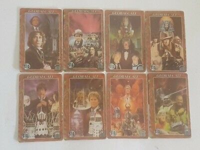 8 Global Call Movie Telephone Cards Set Lot Phone Card Telecard Collectible