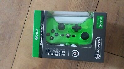 xbox one mini wired controller brand new green