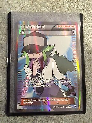 N - 101/101 - Ultra Rare Black & White 3 Noble Victories Single Full Art Trainer