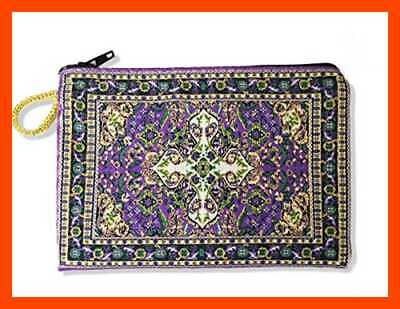 """Tapestry Cloth Rosary Case Pouch Purse Keepsake Holder 5 1/2"""" FREE SHIPPING"""