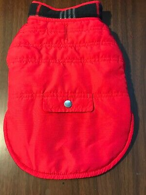 Dog Coat Size XS Pet Puppy Jacket Red Black Pattern